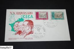 Italien 1971  Fdc - Mi. 1333 - 1334  / 20 Jahre  Europäische Gemeinschaft Für Kohle Und Stahl - ( T - 45 )