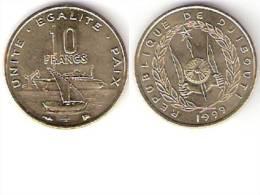 *djibouti 10 Francs 1999 Km 23 Unc  !!!!!!!!!onley In Sets !!catalog Val 15,00$ - Djibouti