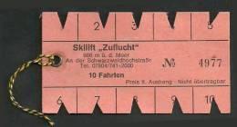 VG164 Skilift Zuflucht Schwarzwaldhochstraße 10 Fahrten - Transporttickets