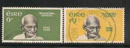 IRELAND - EIRE - 1969 MAHATMA GANDHI - Yvert # 237/8 - USED - Ireland