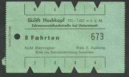 VG172 Skilift Hochkopf Schwarzwaldstraße Bei Unterstmatt 8 Fahrten - Transporttickets