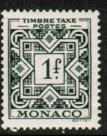 MONACO   Scott #  J 31*  VF MINT LH - Postage Due