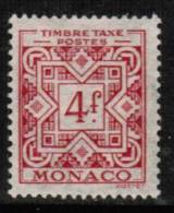 MONACO   Scott #  J 34*  VF MINT LH - Postage Due