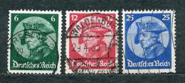Deutsches Reich 1933, MiNr 479-481 Used - Complete Set - Allemagne