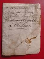 LETTRE MANUSCRITE AU PEINTRE SUAU DE TOULOUSE ARMOIRIES SIGNÉ - Manuscrits