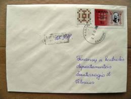REGISTERED Cover Sent In Lithuania, 1997, Svencionys, President Antanas Smetona, Ornament - Lithuania