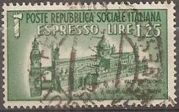 Italia  Repubblica Sociale 1944 Usato - Ss. Espresso 23 - 4. 1944-45 Repubblica Sociale