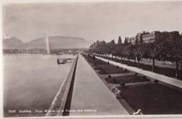 CPSM 14 X 9 * * GENEVE * * Quai Wilson Et Le Palais Des Nations ( Carte Vierge ) - GE Ginevra