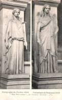 75 PARIS LES VICTOIRES PAR PRADIER CAMPAGNE DE FRANCE 1814 CAMPAGNE DE BELGIQUE 1815  PAS CIRCULEE - Skulpturen