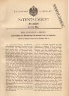 Original Patentschrift - Lenkung Für Motorfahrzeuge , Automobile , 1899 , E. Lundqvist In Berlin !!! - Cars