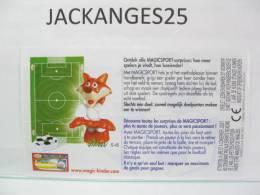 KINDER 1 BPZ BNL SEUL MAGICSPORT MPG S 45  2006 - Instrucciones