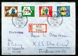"First Day CoveGermany 1966 Mi. Nr.523/26 Ersttagsbrief  ""Wohlfahrt,Gebrüder Grimm-Der Froschkönig "" 1 FDC - Contes, Fables & Légendes"