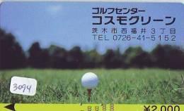 Carte Prépayée  JAPON * KARTE JAPAN * GOLF KARTE * (3094)  SPORT * PREPAID CARD * - Sport