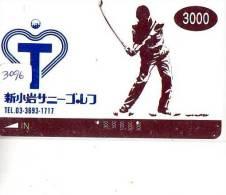 Carte Prépayée  JAPON * KARTE JAPAN * GOLF KARTE * (3096)  SPORT * PREPAID CARD * - Sport