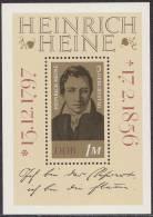 Oost-Duitsland - Block 37 -  175 Geburtstag Von Heinrich Heine - Xx - 1972 - Michel Block 37 - Blokken