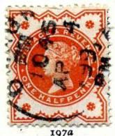 GB QV 1887 ´Jubilee´ Issue ½d Orange-vermilion, Fine Used - 1840-1901 (Regina Victoria)
