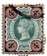 GB QV 1887 ´Jubilee´ Issue 4d Deep Green & Deep Brown, Fine Used - 1840-1901 (Regina Victoria)