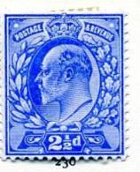 GB EVII 1902 2½d Ultramarine, Hinged Mint - Unused Stamps