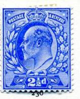 GB EVII 1902 2½d Ultramarine, Hinged Mint - Neufs