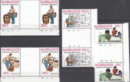 Barbados - MNH Gutterpair - Industry, Professions - Stamps