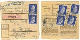Deutsches Reich Nr. 793 auf Paketkarte MeF