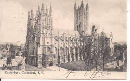 Canterbury Cathedral,postcard, Black And White, From 1904, SMALL SIZE,CONSERVATION PERFECT - Canterbury