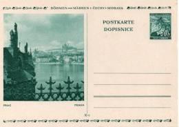 BOHEME ET MORAVIE ENTIER POSTAL ILLUSTRE - Bohême & Moravie