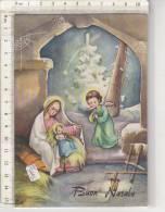 PO5044B#  BUON NATALE Illustrata MODI' - PRESEPIO GESU' BAMBINO - ANGIOLETTO - RAGNATELE  VG 1974 - Noël