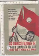 PO5054B# POLITICA - PARTITO SOCIALISTA ITALIANO - XXXI CONGRESSO NAZIONALE TORINO  VG 1955 - Political Parties & Elections