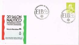 Carta Barcelona 1989. Feria Internacional Barcelona. Salon Nautico - 1931-Hoy: 2ª República - ... Juan Carlos I