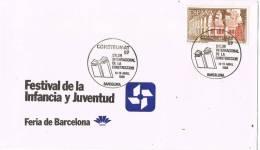 Carta Barcelona 1989. Salon Internacional Construccion, Construmat - 1981-90 Cartas