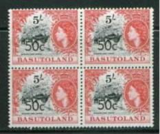 BASUTOLAND, BLOCK OF 4, NO. 70, MNH - Basutoland (1933-1966)