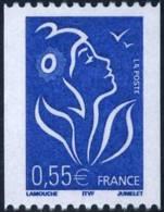 3807   Marianne De Lamouche  0,55 Bleu  De Roulette Neuf **  2005 - France
