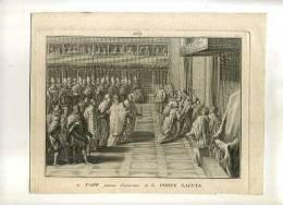 - LE PAPE FAISANT L´OUVERTURE DE LA PORTE SAINTE . EAU FORTE ET BURIN  DU XVIIIe. S. . - Religione & Esoterismo