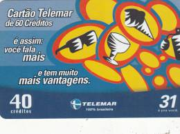 BRAZIL(Telemar) - Advertising Telemar, Tirage 53185, 10/03, Used - Brazil