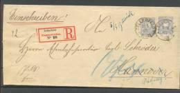 1885 MEF R-Brief  Zellerfeld Retoure !! Ansehen !!  (Del-2840) - Deutschland