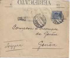 ITALIE - 1915 - LETTRE DE TORINO A DESTINATION DE GENEVE - B/TB - - Affrancature Meccaniche Rosse (EMA)