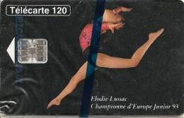 CARTE-PUBLIC-F 424-120U-SC7-09/93-E LUSSAC-N° 2 LIGNES-VARIETE-1e Ligne Incomplete-NSB-LUXE -Cote 180€ - 1993