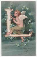 CPA Fantaisie - Ange - Alphabet Lettre L - Motifs Gaufrés - Angels