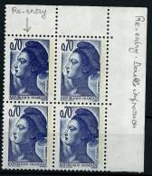 """FR Variétés YT 2240 Bloc De 4 """" Liberté De Gandon 70c. """" 1982 Neuf** Double Frappe - Errors & Oddities"""