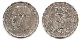 Lot Pièce 5 Francs 1867 Léopold II Roi Des Belges Argent TTB - 1865-1909: Leopold II