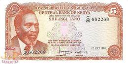 KENYA 5 SHILLINGS 1978 PICK 15 UNC - Kenya