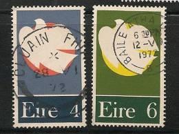 IRELAND - EIRE - 1972  PATRIOT DEAD - DOVE  - Yvert # 280/1 -  USED - Ireland
