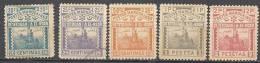 MAROC - Postes Locales - TETOUAN A EL KSAR EL KEBIR - 5 Valeurs Neuves - Morocco (1891-1956)