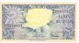 INDONESIE 5 RUPIAH  1959 UNC  P 65 - Indonésie