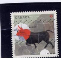 CANADA. 2011, USED # 2450,  ZODIAC SIGNS : TAURUS - Carnets