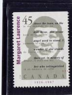 CANADA.1996, USED # 1622 ,    CANADIAN AUTHOR: MARGARET LAURENCE - Carnets
