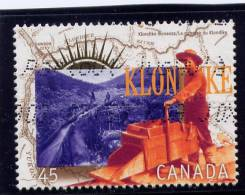 CANADA.1996, USED # 1606e,    WORKING THE GOLD MINE CLAIM - Carnets