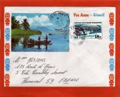 YVERT 75 SEUL SUR LETTRE PAPEETE 23/6/1970  POUR FRANCE - Polynésie Française
