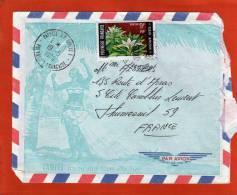 YVERT 64 SEUL SUR LETTRE PAPEETE 19/5/1970  POUR FRANCE THUMESNIL 59 - Polynésie Française